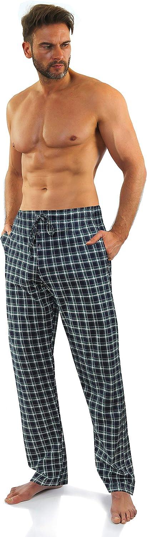 Sesto Senso Pantaloni Pigiama Uomo Lunghi Cotone Confezione da 1-2 Pezzi Pjama a Quadri Scachi