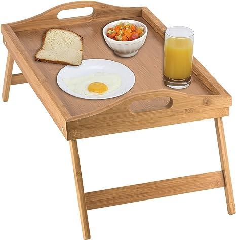 Home-it bandeja de cama mesa con patas plegables, y bandeja de ...