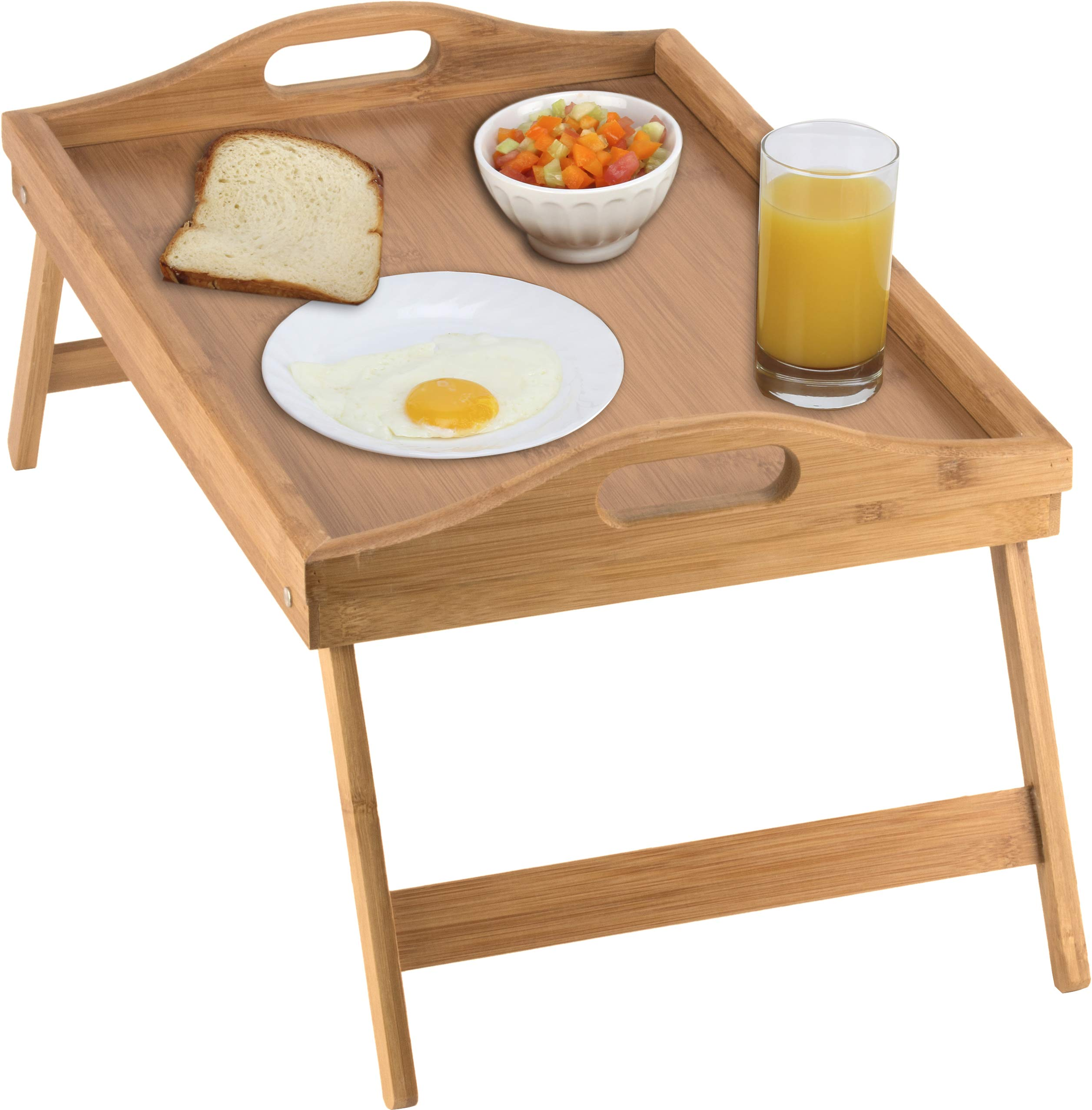 Home-it Bed Tray table with folding legs, and breakfast tray Bamboo bed table and bed tray with legs by Home-it