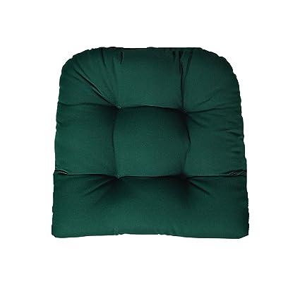 Amazon Com Rsh Decor Sunbrella Canvas Forest Green Wicker Chair