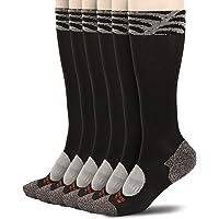LIN Compression Socks for Mmen 6 Pack 20-30 mmHg Running Support Socks, 9-11/10-13/13-15, ALL BLACK