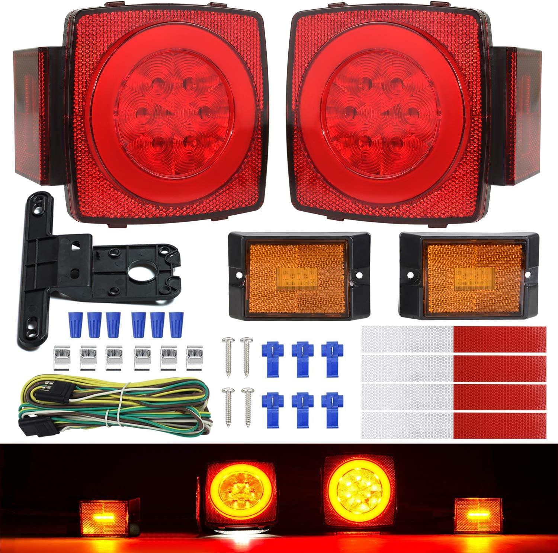 ALL FULL LED Trailer Boat Light Kit Submarine Turn,Stop,Side Marker License