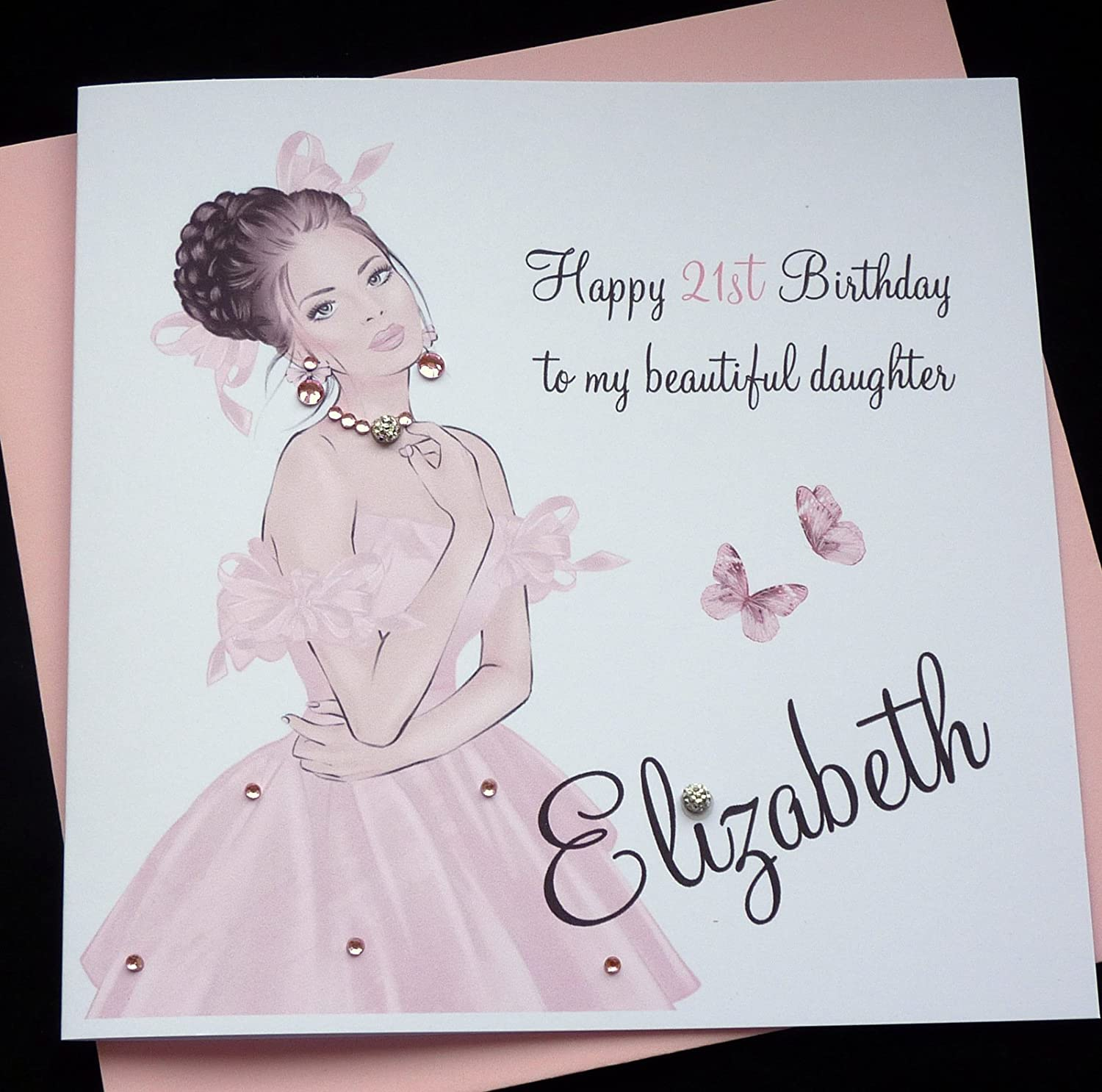 Handmade Personalised Birthday Card Sister Friend Daughter Granddaughter Goddaughter Niece16th 18th 21st 30th 40th Etc Amazoncouk