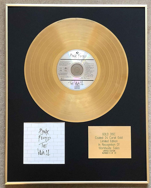Pink Floyd Ltd Disco de disco con revestimiento de oro de 24 quilates Century Music Awards dise/ño de la pared