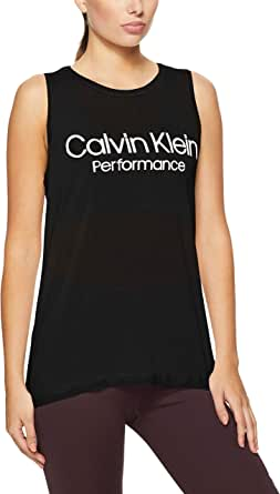 Calvin Klein Women's Logo Racerback Seam Tank