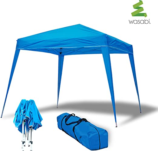 wasabi Carpa Plegable 3x3m Compact Azul de jardín, terraza, Camping, Playa: Amazon.es: Jardín