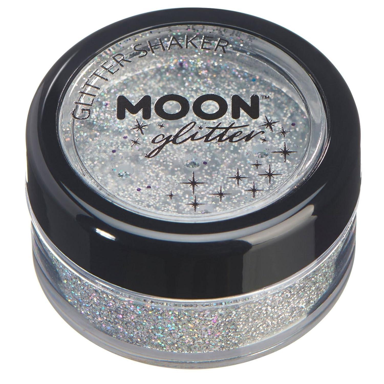 Agitadores de Brillo Holográfico por Moon Glitter - 100% Brillo Brillo Cosmético para la Cara, Cuerpo, Uñas, Cabello y Labios - 5g - Verde