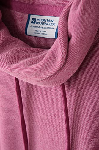 Mountain Warehouse Hebridean Womens Cowl Neck Fleece Breathable Sweater Brushed Inner /& Two Front Pockets Ideal for Winter Travelling