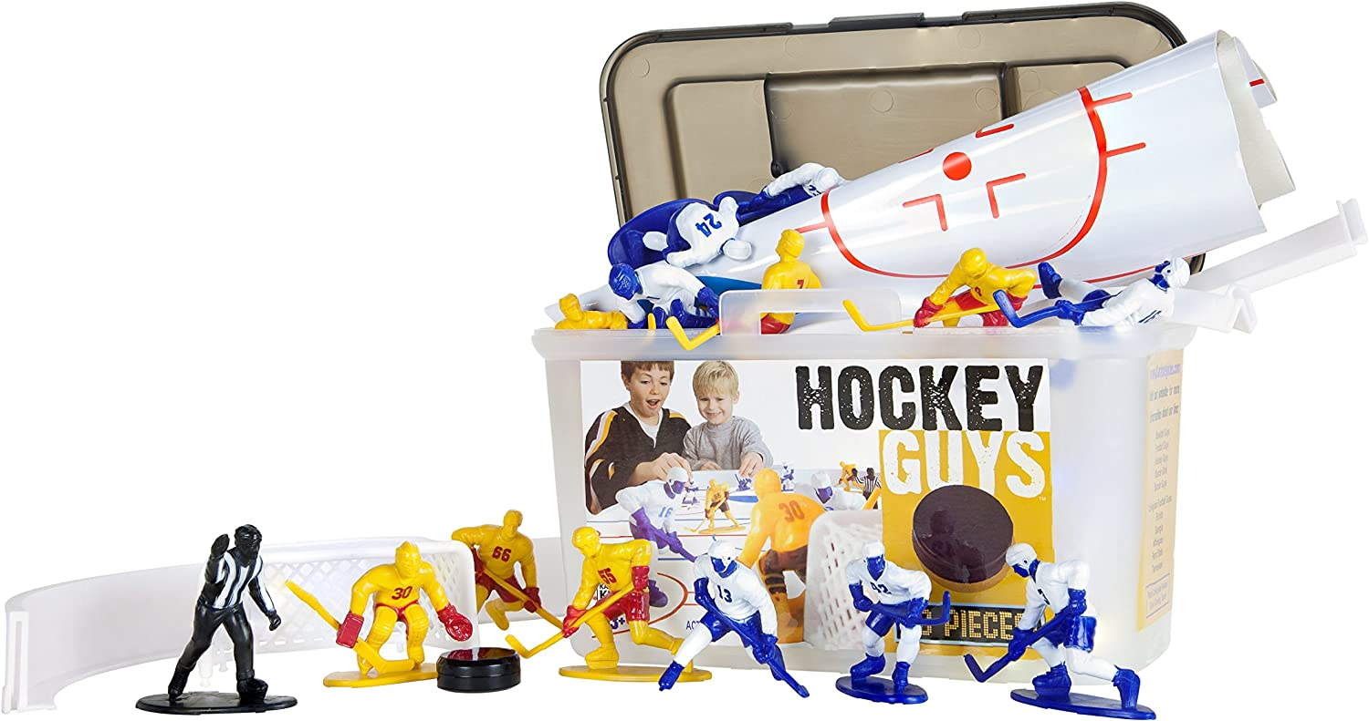 Kaskey Kids Hockey Guys – Inspires Imagination with Open-Ended Play – Includes 2 Full Teams and More – For Ages 3 and Up : Sports Fan Toy Figures : Toys & Games
