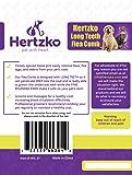 Hertzko Long Teeth Flea Comb Closely Spaced Metal