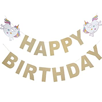 "Amazon.com: '""Feliz cumpleaños"" Unicorn Papel ..."