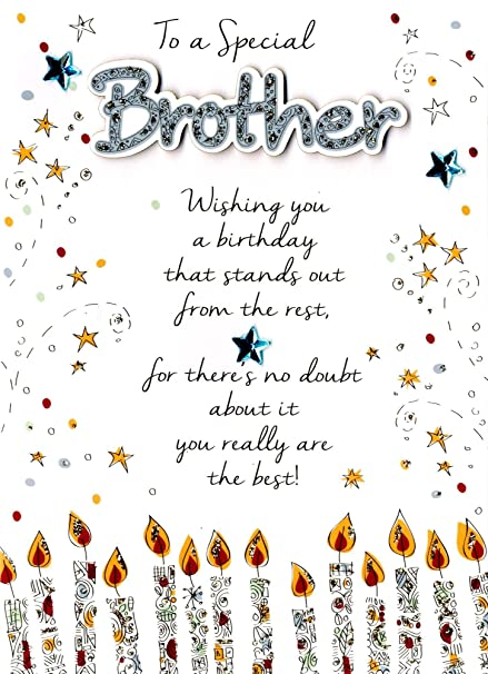 Image Unavailable Not Available For Color Special Brother Happy Birthday Greeting Card