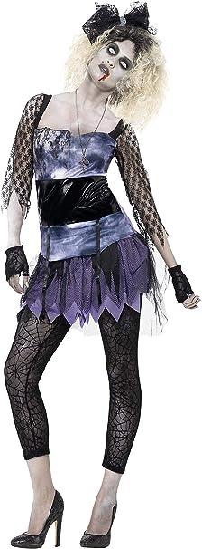 Smiffys - Disfraz zombi años 80 para mujer Wild Child, color ...