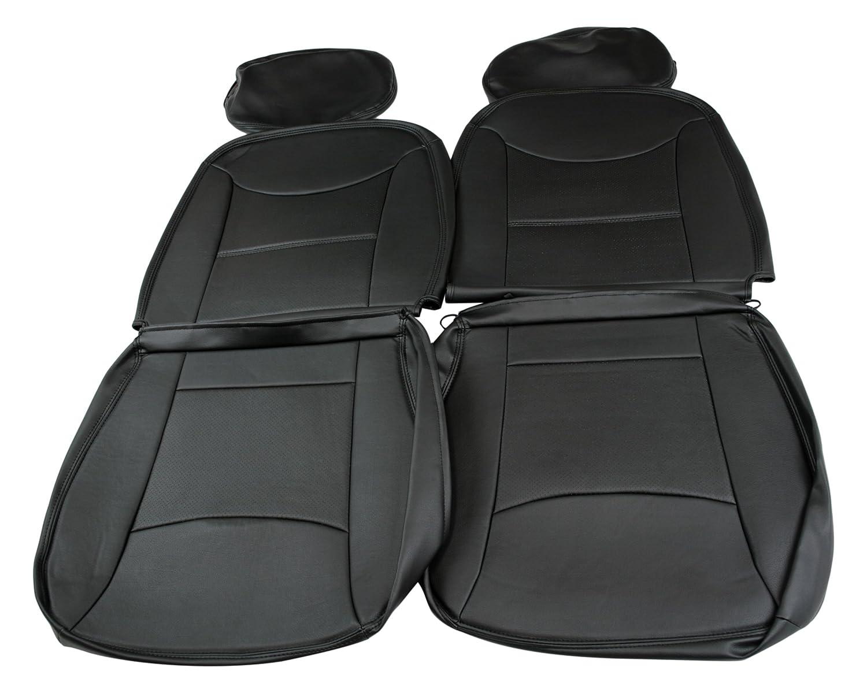 Spiegel シートカバー ダイハツ ハイゼットトラック S500P/S510P ブラック VIZ-YS0801-90002 B0171HS02E