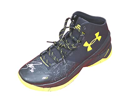 b97caf618e0 Stephen Curry Golden State Warriors Signed Autographed Under Armour  Basketball Shoe PAAS COA