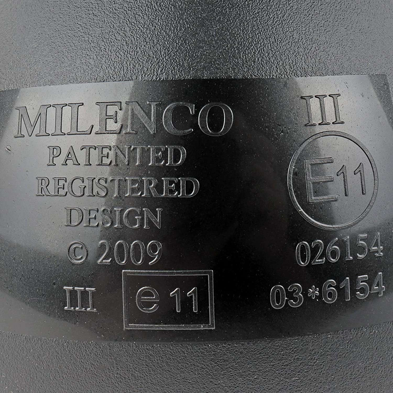 2 Unidades, Izquierda y Derecha Milenco 150593624 Aero3 Espejo retrovisor Universal para Caravana