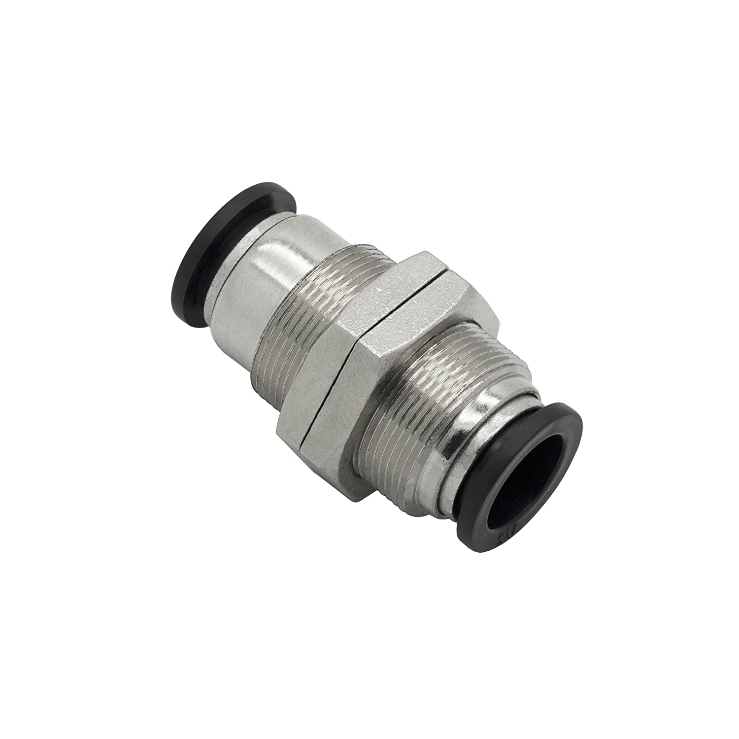 MacCan Pneumatic PMM1//2 Bulkhead Union 1//2 x 1//2 Tube OD Air Push to Connect Fittings Pack of 10