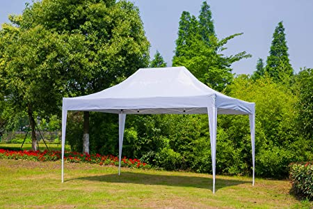 Erommy Outdoor 10×15 Ft Pop up Canopy Party Tent Heavy Duty Gazebos Shelters for Events,White