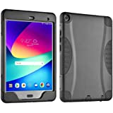 Verizon Rugged Case with Built-in Screen Protector for ASUS ZenPad Z8s, 7.9 inch Tablet - Black