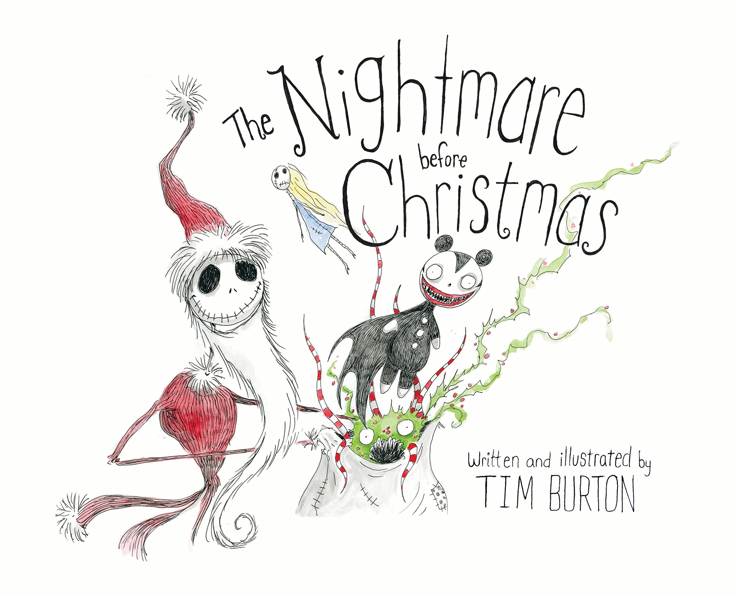 Tim Burton Nightmare Before Christmas Artwork.The Nightmare Before Christmas Amazon Co Uk Tim Burton Books