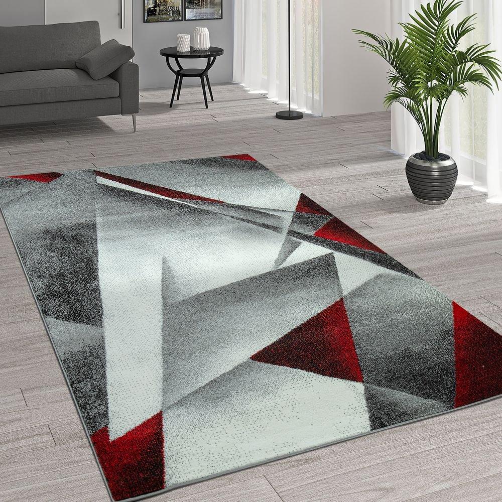 Paco Home Kurzflor Wohnzimmer Teppich Moderne Melierung Geometrische