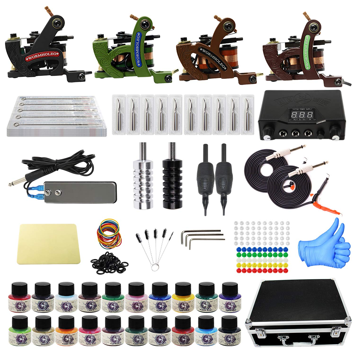 Amazon Com Tattoo Kit With Case Complete Tattoo Gun Kit 4pcs Starter Tattoo Machine Kit Tattoo Kit 20 Colors Tattoo Inks For Beginners Cd013 Beauty To those in law enforcement and the military, guns are symbols of authority. tattoo kit with case complete tattoo gun kit 4pcs starter tattoo machine kit tattoo kit 20 colors tattoo inks for beginners cd013
