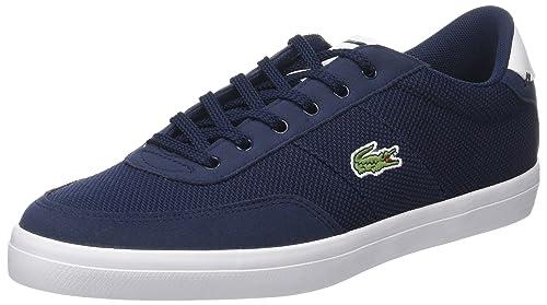 Court-Master 118 1 CAM, Zapatillas para Hombre, Azul (Nvy/Wht), 42 EU Lacoste