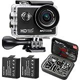 MUSON ムソン アクションカメラ 1080PフルHD高画質 30m防水 スポーツカメラ Wi-Fi搭載 ウェアラブルカメラ 防犯カメラ ドライブレコーダーとしても利用可能[メーカー直販/1年保証付]MC1 ブラック