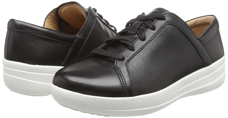 FitFlop Damen F-Sporty Ii Lace Up Sneakers-Leder Schwarz Sneaker, Schwarz Schwarz Sneakers-Leder (schwarz 001) ebc11c