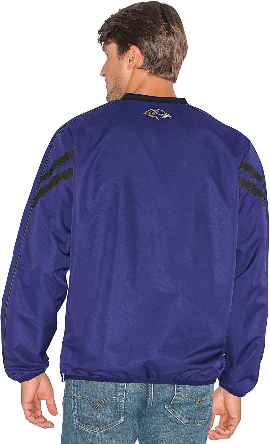 G-III Mens Red Zone V-Neck Pullover 4X Purple