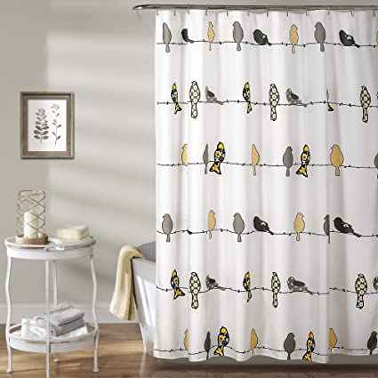 Lush Decor Rowley Birds Shower Curtain 72quot X