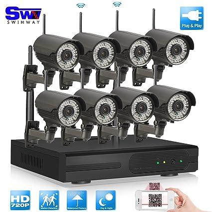 ANRAN 8 ch 720p inalámbrica Wifi NVR Kit sistema de seguridad Inicio vigilancia con 78pcs la