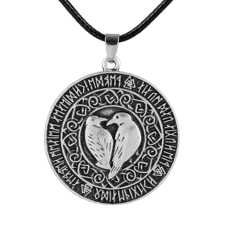 1pcs Norse Vikings Valknut Raven RUNE Knot Viking Amulet Pendant Necklace Nordic Talisman Jewelry