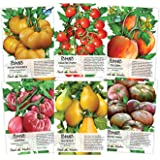 Multicolor Tomato Seed Packet Collection (6 Individual Packets) Non-GMO Seeds by Seed Needs