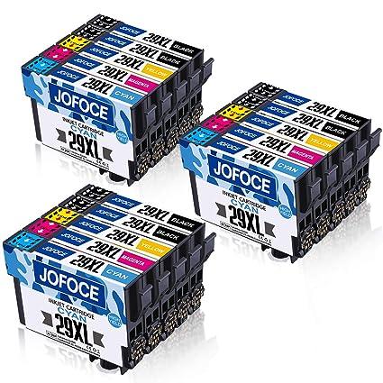 Jofoce Reemplazo para EPSON 29 29XL Cartuchos de tinta, Compatible con Epson Expression Home XP-342 XP-345 XP-332 XP-235 XP-445 XP-442 XP-245 XP-255 ...