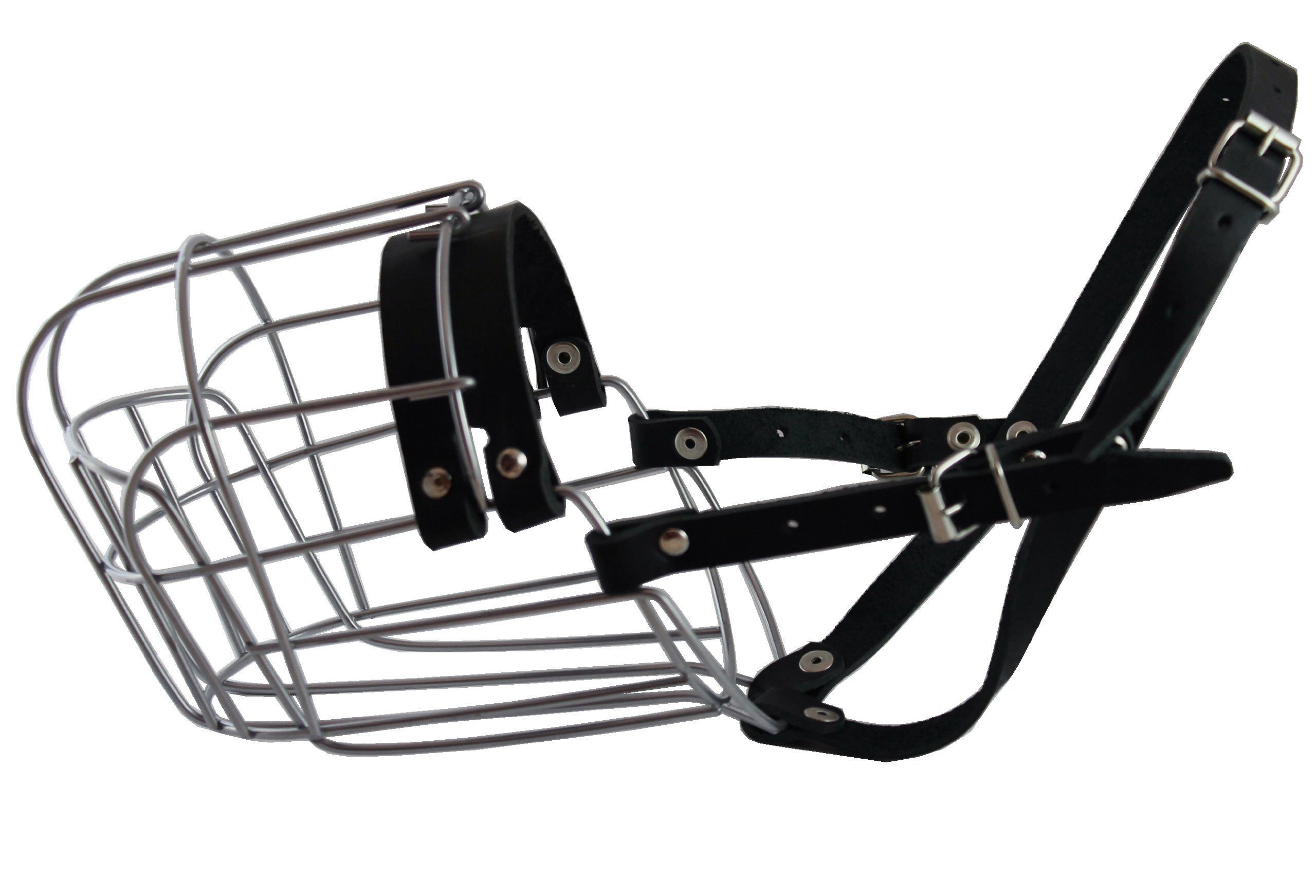 Dogs My Love Metal Wire Basket Dog Muzzle Saint Bernard, Mastiff, Great Dane. Circumference 17'', Length 5.5'' by Dogs My Love