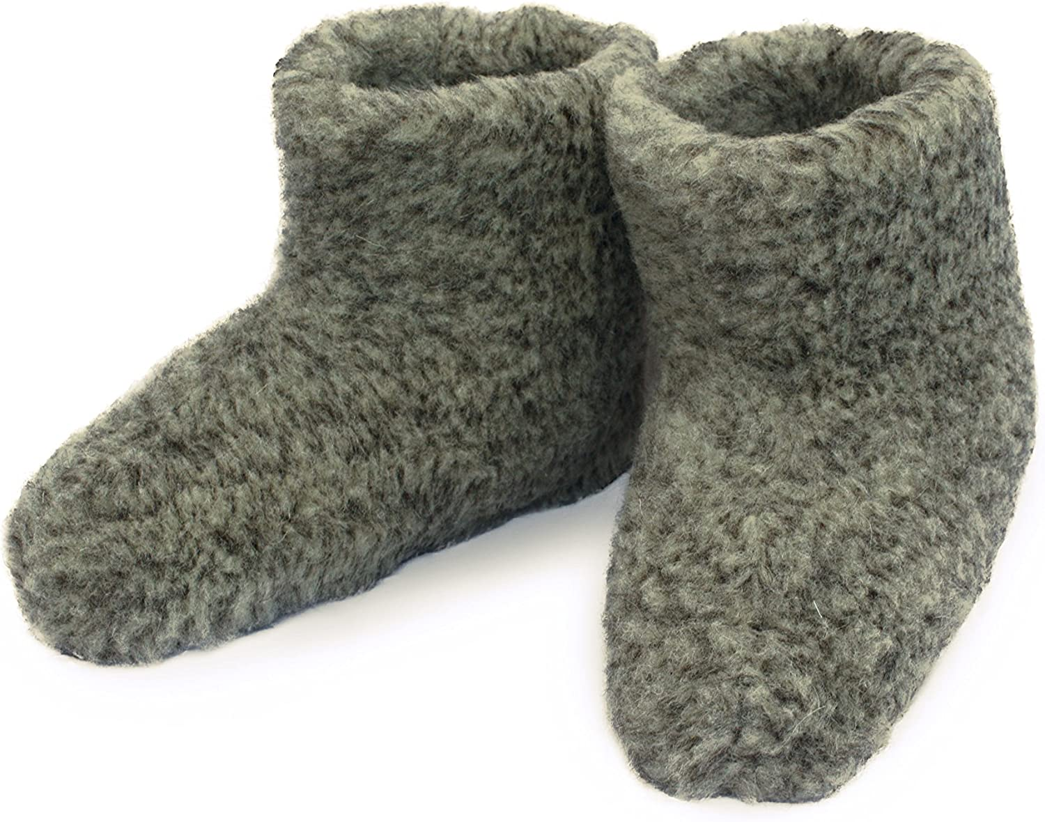 WOMEN/'S MERINO WOOL BOOTS WARM COZY SLIPPERS MOCCASINS CHUNI Size 4 GREY
