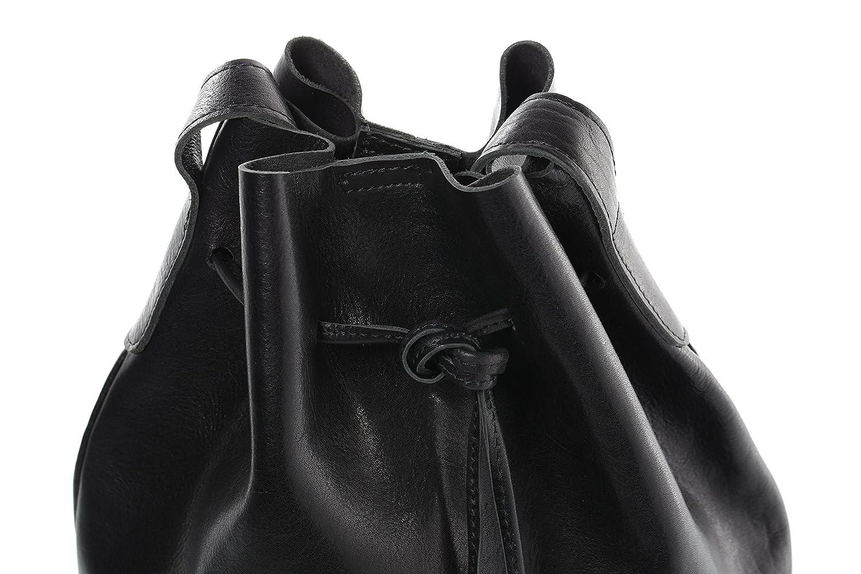 SID /& VAIN/® Bolso Saco morral Patty Mochila Bolso de Colgar Piel Negro