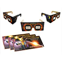 StepsToDo (with device) Premium Solar Eclipse Goggle. Sun Viewer Glasses with ISO Certfied Made in USA Films (Set of 3)
