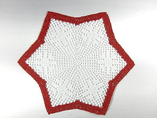 Häkeldeckchen Stern Weihnachtsstern Weihnachtsdeko Deckchen Geschenk