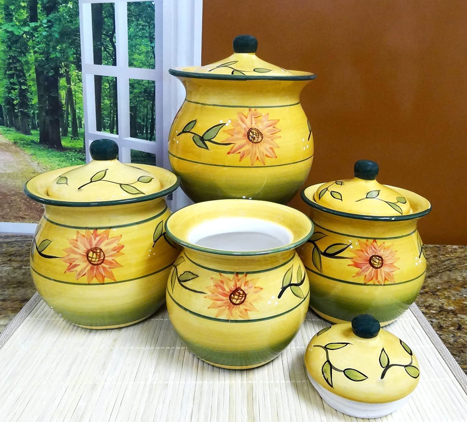 Yellow Canister Sets Kitchen 100 White Canister Sets Kitchen Vintage Ceramic Outofhome