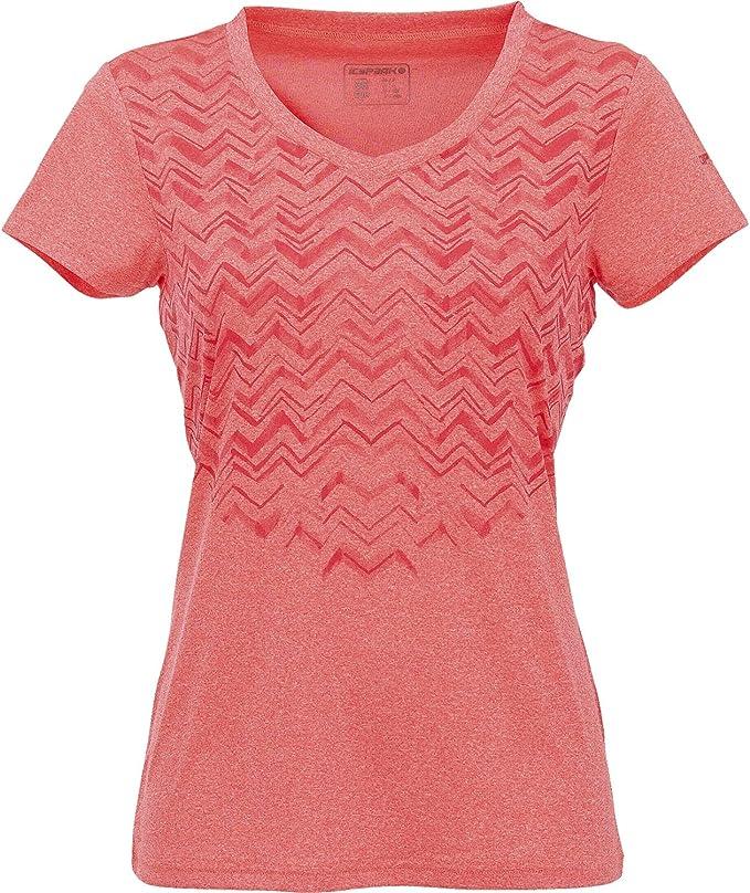 ICEPEAK Sumitra salmón, DA. Camiseta de, Color Frutas del Bosque, tamaño Shoes DE/Textile Size 46: Amazon.es: Deportes y aire libre