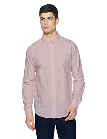 United Colors of Benetton Men s Solid Slim Fit Casual Shirt  Amazon.in   Clothing   Accessories f692d70e2ff5