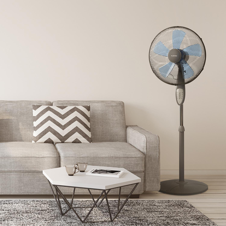 Klarstein Summerjam /• Ventilatore a Piantana /• Timer /• 5 Pale /• 41 cm /• 50 Watt /• Emissione aria 69,18 m/³//min /• 3 Velocit/á /• Telecomando /• Bianco