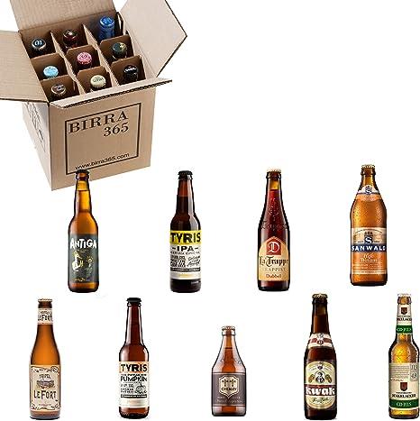 Caja degustación 9 cervezas diferentes.La caja perfecta para catar 9 estilos de cerveza diferentes.: Amazon.es: Alimentación y bebidas