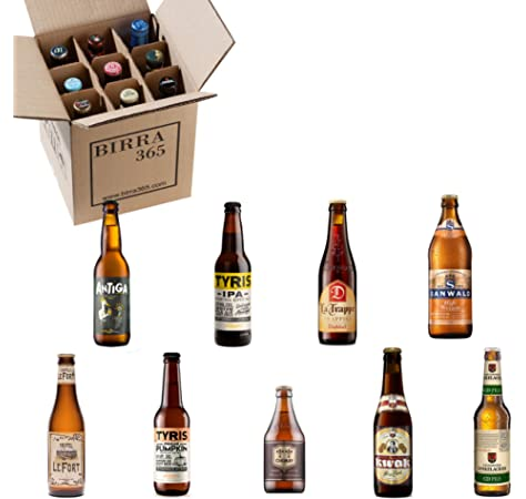 Caja de 9 cervezas artesanas seleccionadas para disfrutar de la mejor degustación de cervezas artesanas valencianas: Amazon.es: Alimentación y bebidas
