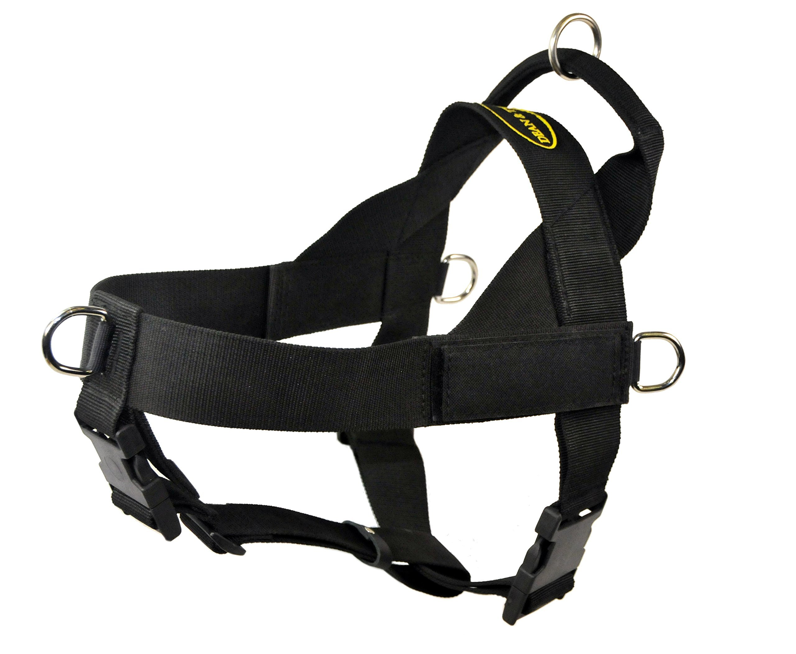 Dean & Tyler D&T UNIVERSAL BK-L DT Universal No Pull Dog Harness with Adjustable Straps, Large, Fits Girth, 79cm to 107cm, Black