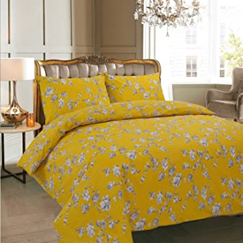 adamlinens luxury duvet cover bedding bed set quilt cover with pillowcases claire mustard