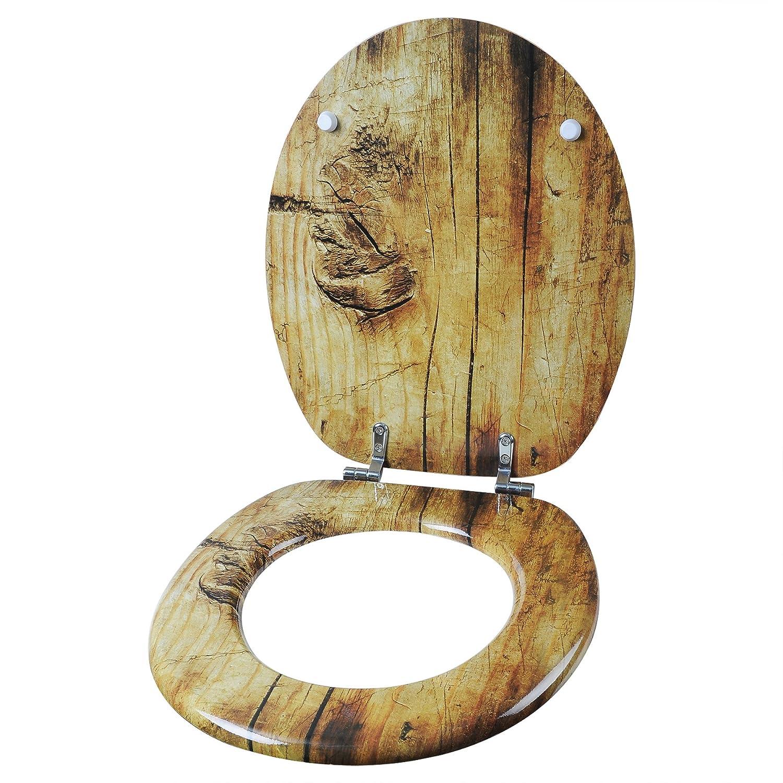 SITU STS0237 WC Sitz Toilettensitz Toilettendeckel Klodeckel Klobrille aus Zink verchromt Scharniere MDF Holz