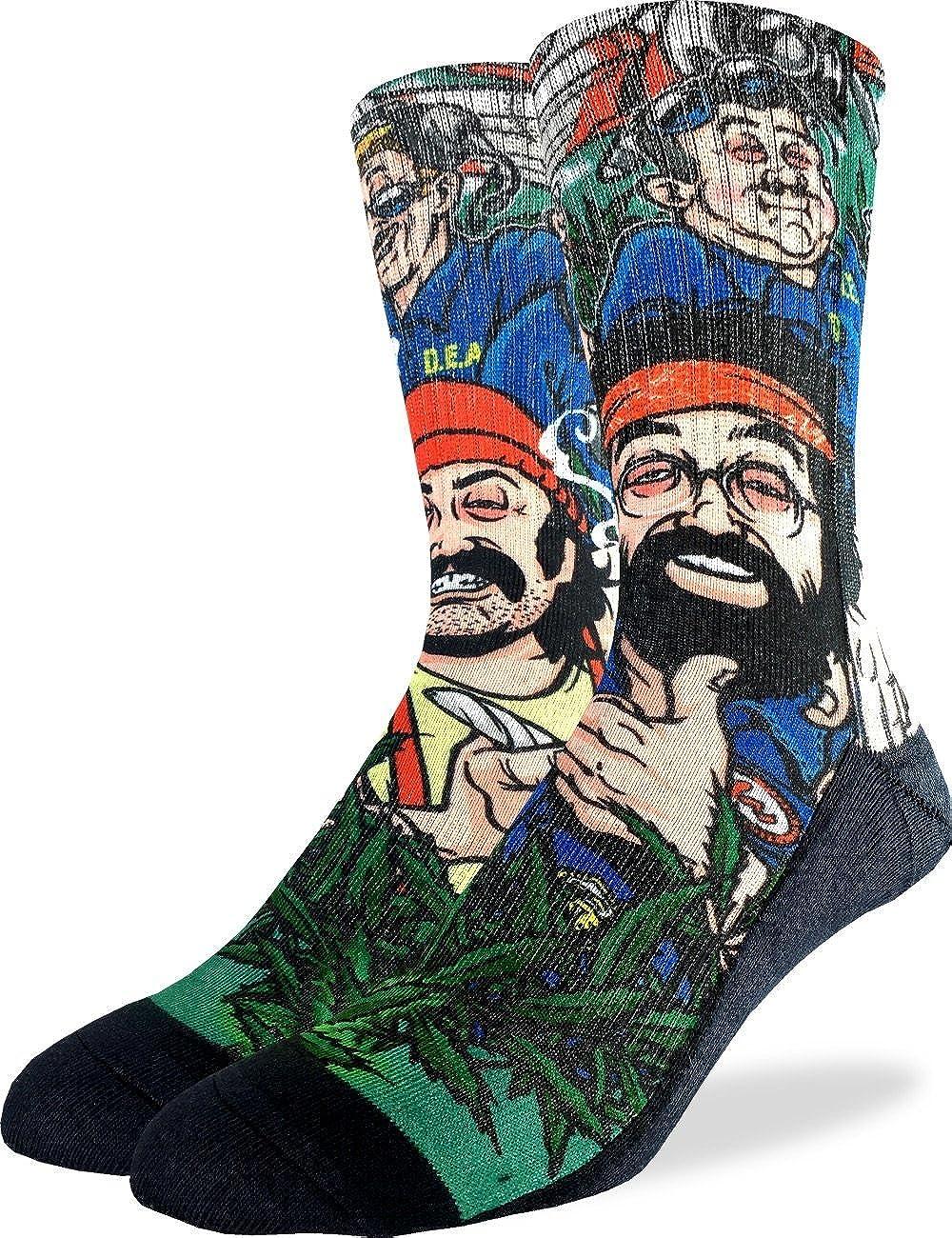 Good Luck Sock Men's Cheech & Chong DEA Crew Socks - Adult Shoe Size 8-13 4104
